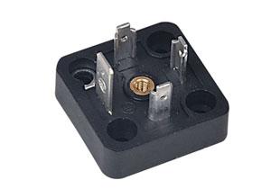 四安装孔平底插座