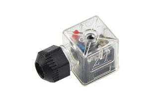 A型外螺纹防水带灯插头(液压电磁阀插头)
