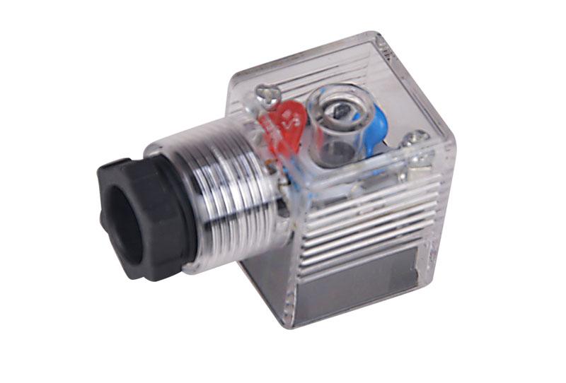 A型全波整流带灯插头(液压电磁阀插头)
