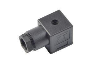 A型普通B12黑插头(液压电磁阀插头)