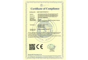 Solenoid valve plug CE certificate